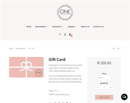 One Mind Body Soul gift card purchase