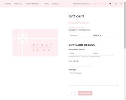 Die Kleyn Winkel gift card purchase
