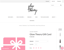 Glow Theory gift card purchase