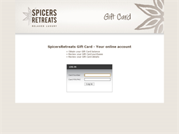 Spicers Retreats gift card balance check