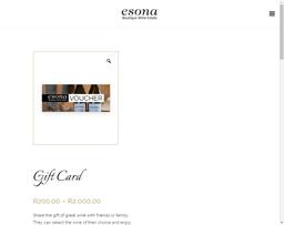 Esona gift card purchase