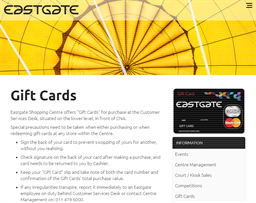 Eastgate Mall gift card purchase
