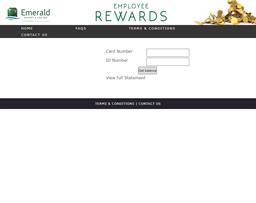Emerald Resort & Casino gift card balance check