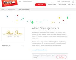 Albert Shaws Jewellers gift card purchase