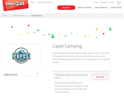Capel Camping gift card purchase