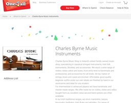 Charles Byrne Music Instruments gift card purchase