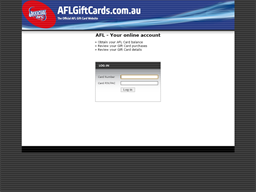AFL gift card purchase