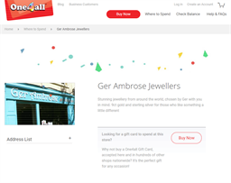 Ger Ambrose Jewellers gift card purchase
