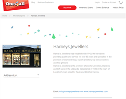 Harney's Jewellers gift card purchase