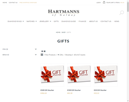 Hartmanns of Galway gift card purchase