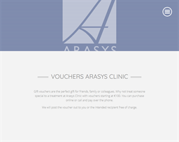 Arasys Health & Beauty gift card purchase
