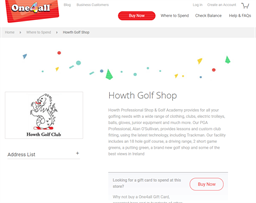 Howth Golf Club gift card purchase
