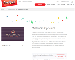 Mellerick's Opticians gift card purchase