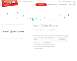 Navan Cycles Centre gift card purchase