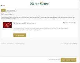 Nuremore Hotel & Country Club gift card purchase