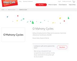 O'Mahony Cycles gift card purchase