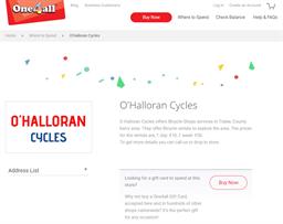 O'Halloran Cycles gift card purchase