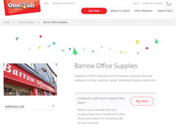 Barrow Office Supplies gift card purchase