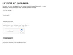 Pizzeria Locale gift card balance check