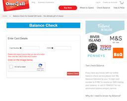 Rear Facing gift card balance check