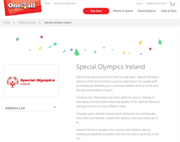 Special Olympics Ireland gift card purchase