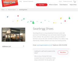 Swarbrigg Shoes gift card purchase