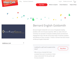 Bernard English Goldsmith gift card purchase