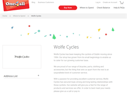 Wolfe Cycles gift card purchase