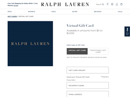Ralph Lauren gift card purchase