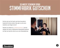 Stimmfabrik gift card purchase