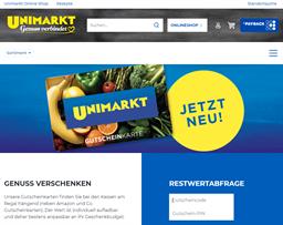 Unimarkt gift card purchase