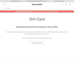 Hallhuber gift card purchase