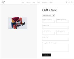 Herschel gift card purchase