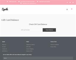 Spoilz gift card balance check
