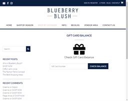 Blueberry Blush gift card balance check