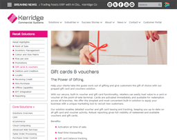 Kerridge Commercial Systems gift card purchase