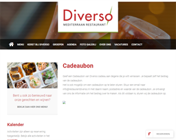 Restaurant Diverso gift card purchase