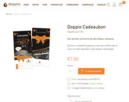 Doppio Espresso gift card purchase