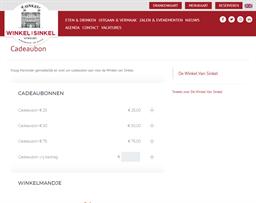 De Winkel Van Sinkel gift card purchase