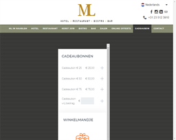 ML in Haarlem Hotel gift card purchase