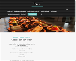 Onsz Restaurant gift card purchase