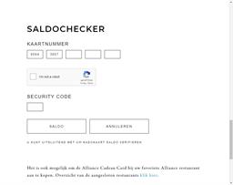 Alliance Gastronomique gift card balance check