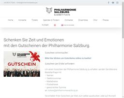 Philharmonie Salzburg gift card purchase