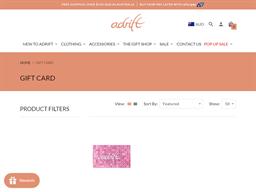Adrift gift card purchase