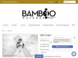 Bamboo Watches gift card purchase