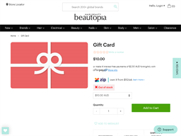 Beautopia Hair & Beauty gift card purchase