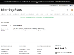 Bloomingdales gift card purchase