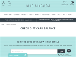 Blue Bungalow gift card balance check