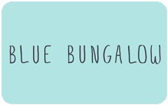 Blue Bungalow gift card design and art work