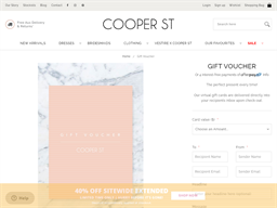 Cooper St gift card purchase